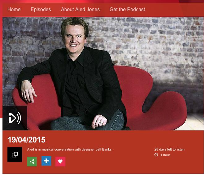 ALED JONES BBC RADIO WALES INTERVIEWS JEFF BANKS